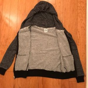 PINK Gray Zipper Hoodie XS